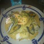 Le méli mélo de poissons et son risotto aux petits légumes