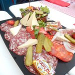 1 of the 2 charcuterie plates for 10 people :(