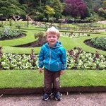 Joshua enjoying the gardens