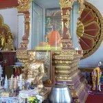altare per le offerte , mummia del monaco nella tecla
