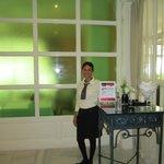 Our hostess Yaneuris at the buffet restaurant