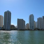 View of Miami from the boat