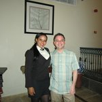 Me and the hostess at Don Pablo restaurant