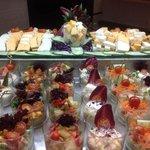Amplio buffet de ensaladas