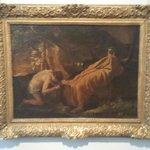 Re Mida alla sorgente del fiume Pattolo, dipinto di Nicolas Poussin