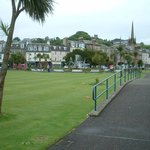 Rothesay putting greens and fountain.
