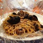 Spaghetti al cartoccio, molto buoni e abbondanti