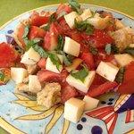 Tomato & mozzarella starter
