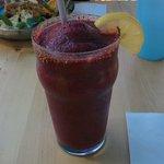 Blackberry banana smoothie.