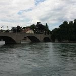 Sicht auf den Rhein von der Terrasse