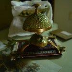 Loved the frog-bell on front desk