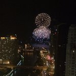Pier fireworks view from room