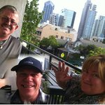 Having fun on the balcony at Porto Vista