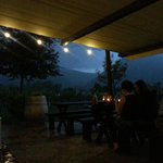 Fabulous outdoor dining during thunderstorn