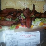 Try the double smoked bacon. we made this blt!