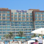a view of the Hotel from the beach.