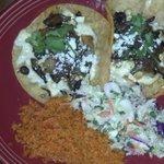 Corn Poblano and Mushroom Taco Plate