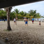 Vollyball in front of Rasta Bar