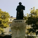 Statue of Goya Outside the Ticket Booths