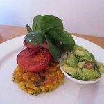 Sweetcorn fritters with guacamole