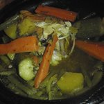 Overcooked chicken tajine