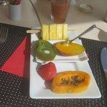 Encore petit déjeuner sur la terrasse :-)