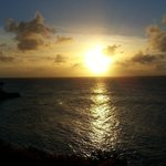 Beautiful Caribbean Sunset from Cove Suite Balcony