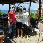 With Mina, at Sarikampos Beach, Ierapetra Crete