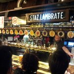 The bar with all the beers on tap