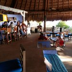 happy hour at the beach bar and restaurant - always live music