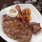 Faux filet sauce roquefort