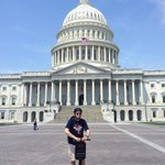 In front of the Capitol
