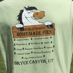Tee Shirt du Bryce Canyon Pines : World Famous Homemade Pies
