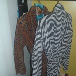 His and her robes provided by hotel