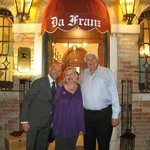 With Maurizio, Our Gracious Host at Charming Da Franz!