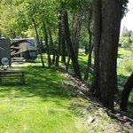 Campsites along river