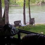 river view from inside RV
