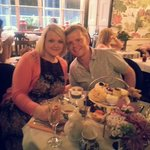 Fantastic tea party with my lovely wife x