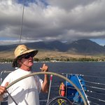 Captain Turk on the high sea!