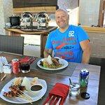 Bebek Goreng a la Lumbini and Mixed satay, yum!!!