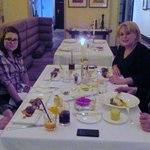 Vismeg family in the restaurant