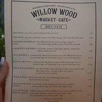 Willow Wood Market Brunch Menu