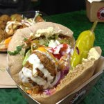 falafel pitta - for a lion sized appetite!