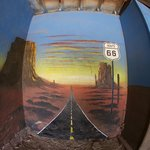 Rte 66 painted garage