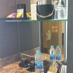 mini bar - the mineral water that is not labelled with the hotel name is chargeable