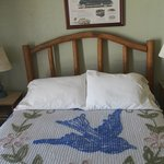 Room with Blue Swallow chenille spread