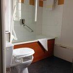 Wheelchair bathroom - note seat