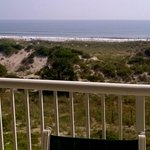 View from balcony of beach