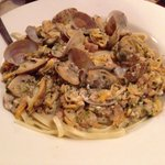 Linguini and white clam sauce