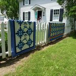 lovely quilt display
